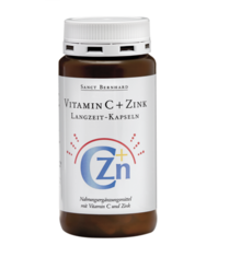 Витамин C + Цинк с удължено освобождаване - 180 таблетки