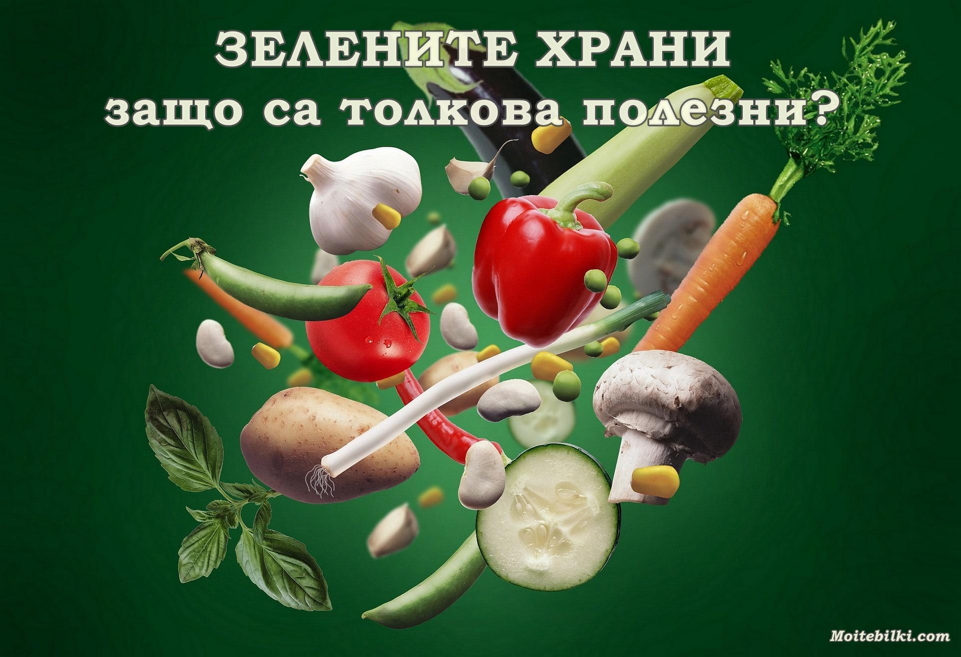 zelenite hrani